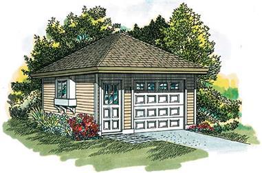 0-Bedroom, 320 Sq Ft Garage Home Plan - 167-1316 - Main Exterior