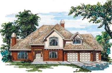 4-Bedroom, 4170 Sq Ft European House Plan - 167-1318 - Front Exterior