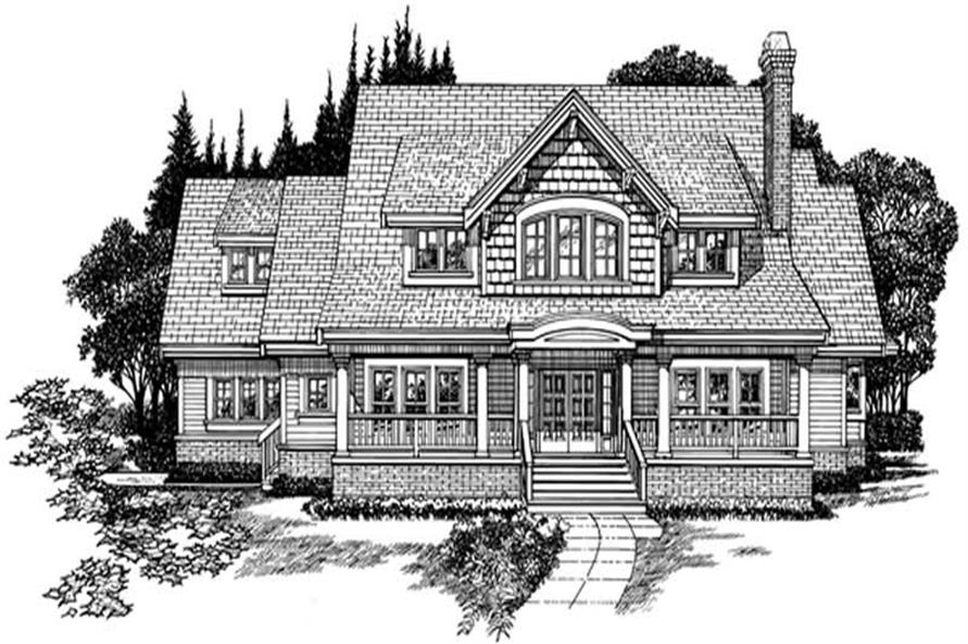4-Bedroom, 3090 Sq Ft Country House Plan - 167-1319 - Front Exterior
