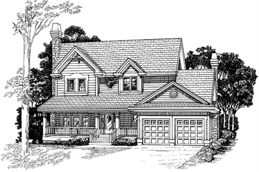 4-Bedroom, 2142 Sq Ft Country Home Plan - 167-1320 - Main Exterior