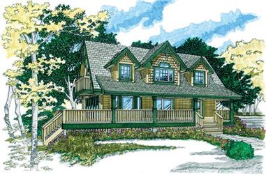 3-Bedroom, 1365 Sq Ft Country Home Plan - 167-1321 - Main Exterior