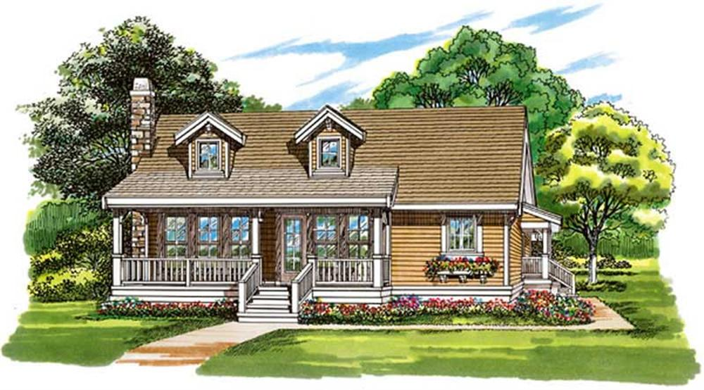 Front elevation of Country home (ThePlanCollection: House Plan #167-1322)