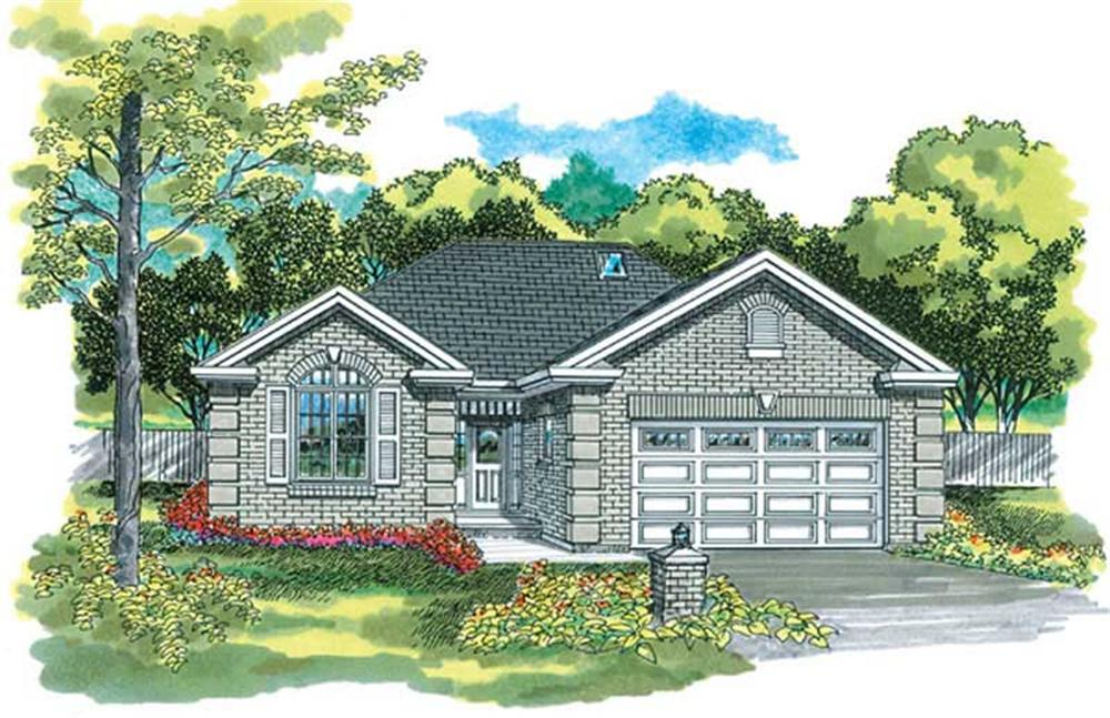 Ranch home (ThePlanCollection: Plan #167-1326)