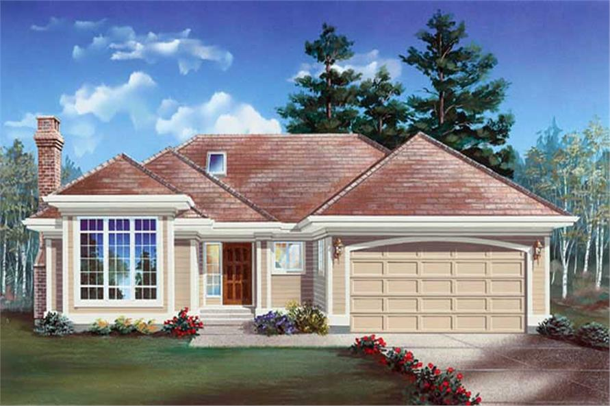 3-Bedroom, 1678 Sq Ft Ranch House Plan - 167-1328 - Front Exterior