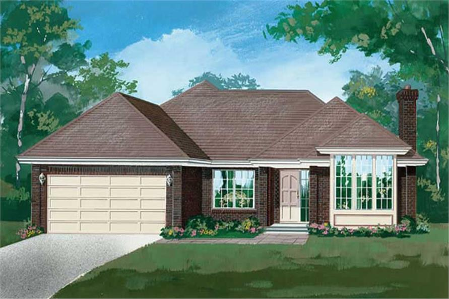 Main image for house plan # 6906