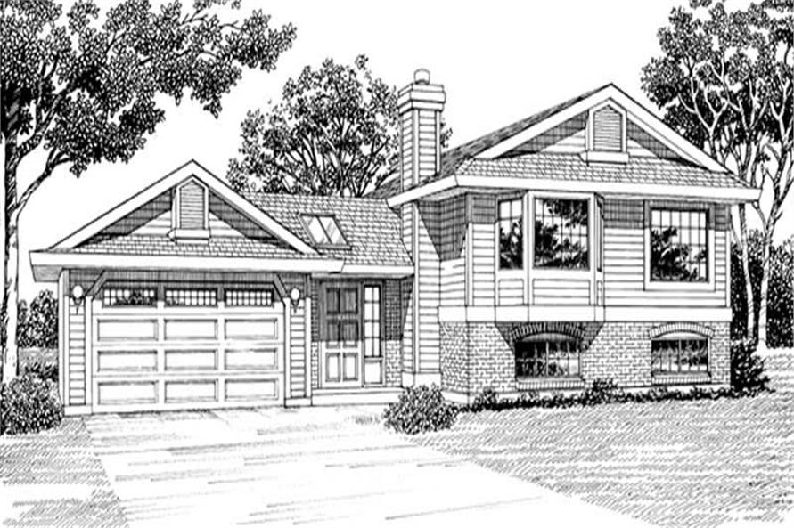 Home Plan Rendering of this 3-Bedroom,1257 Sq Ft Plan -167-1334