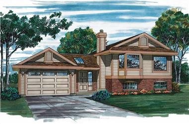 3-Bedroom, 1257 Sq Ft Small House Plans - 167-1334 - Main Exterior