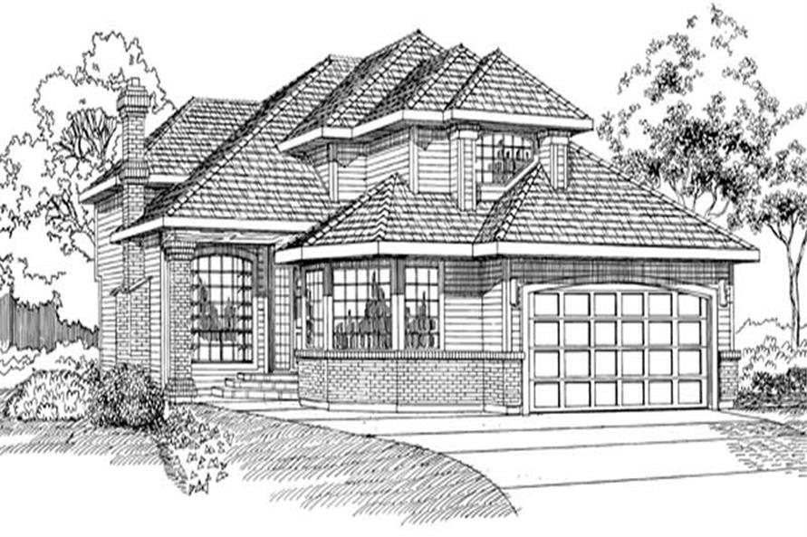 3-Bedroom, 2622 Sq Ft Contemporary Home Plan - 167-1337 - Main Exterior