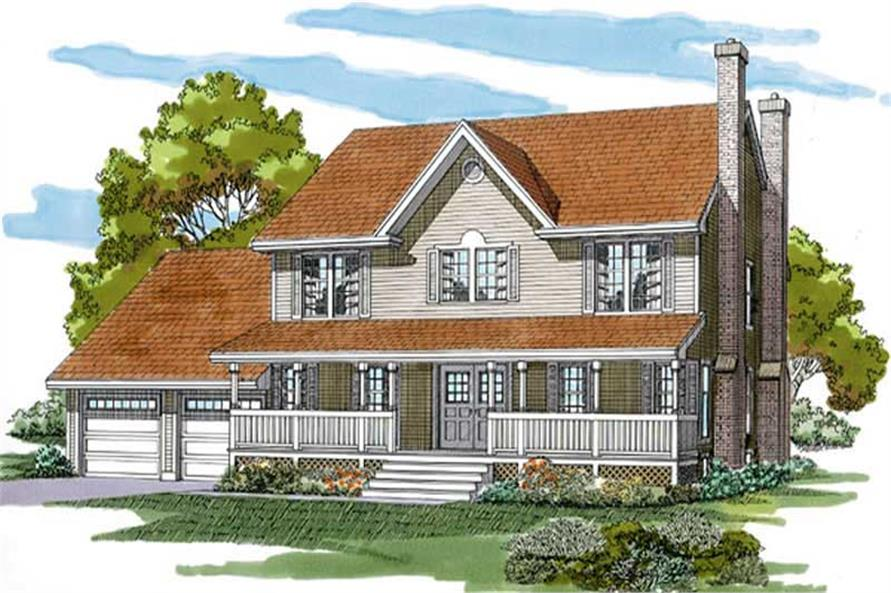 4-Bedroom, 2446 Sq Ft Country House Plan - 167-1339 - Front Exterior