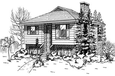 2-Bedroom, 1031 Sq Ft Coastal Home Plan - 167-1341 - Main Exterior