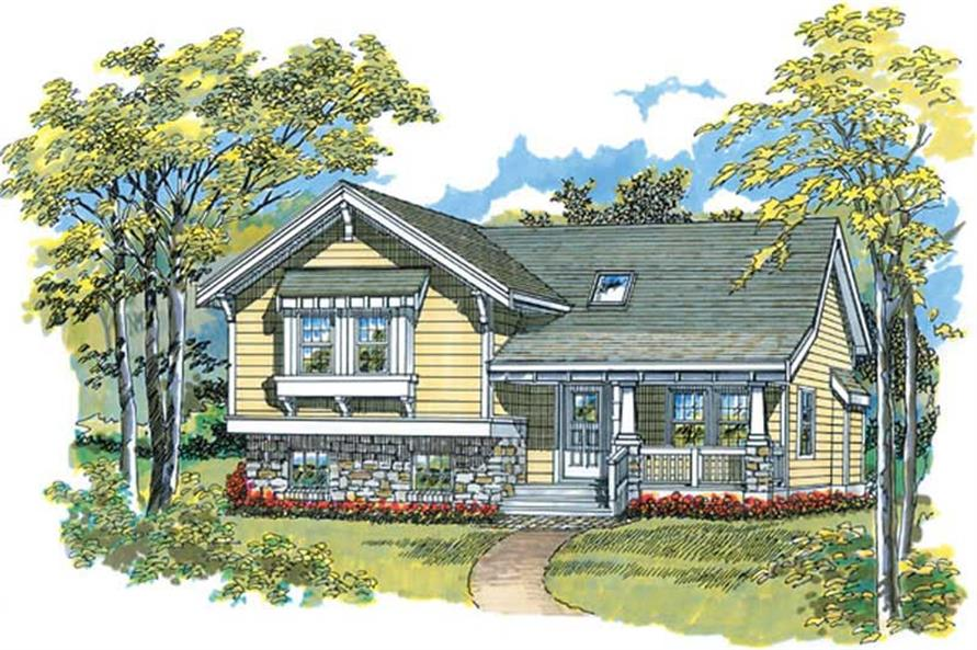 3-Bedroom, 1108 Sq Ft Ranch House Plan - 167-1344 - Front Exterior