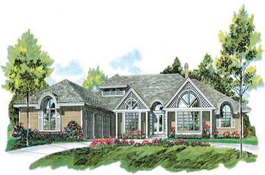 3-Bedroom, 3555 Sq Ft Ranch House Plan - 167-1346 - Front Exterior