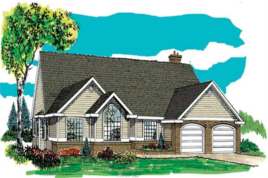 3-Bedroom, 2058 Sq Ft Ranch Home Plan - 167-1347 - Main Exterior