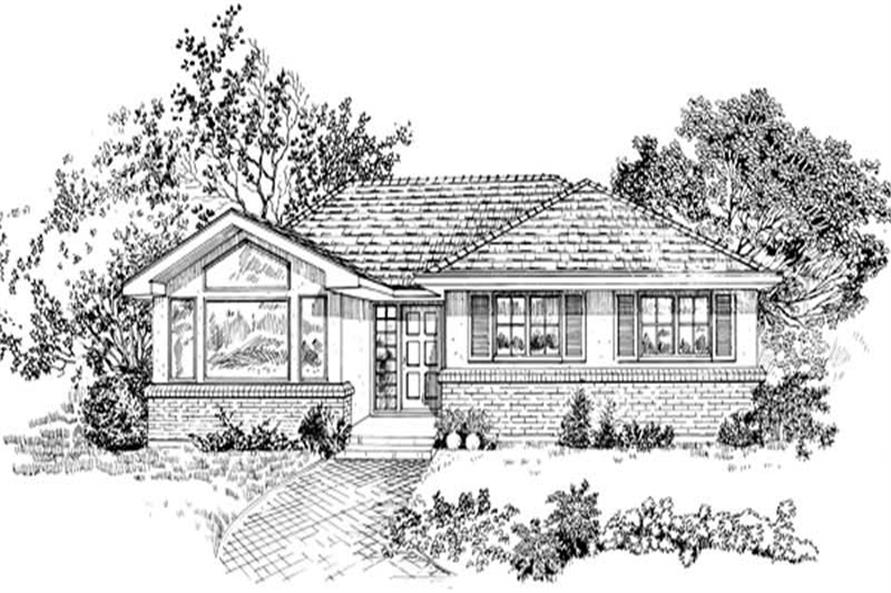 3-Bedroom, 1237 Sq Ft Small House Plans - 167-1348 - Front Exterior