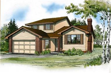 3-Bedroom, 2003 Sq Ft Traditional House Plan - 167-1350 - Front Exterior