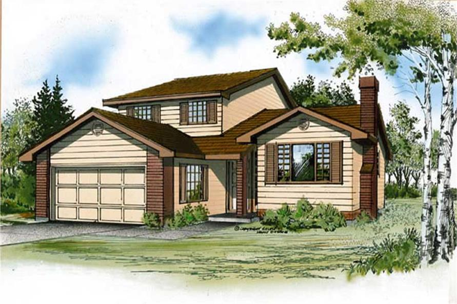 Main image for house plan # 7341