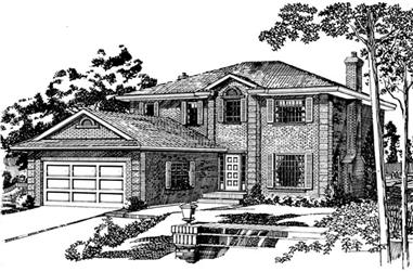 4-Bedroom, 2311 Sq Ft European House Plan - 167-1352 - Front Exterior
