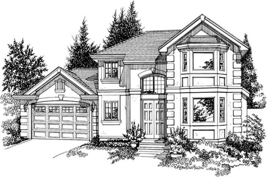 3-Bedroom, 2298 Sq Ft Contemporary Home Plan - 167-1360 - Main Exterior