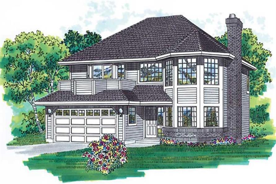 3-Bedroom, 1412 Sq Ft Contemporary House Plan - 167-1363 - Front Exterior