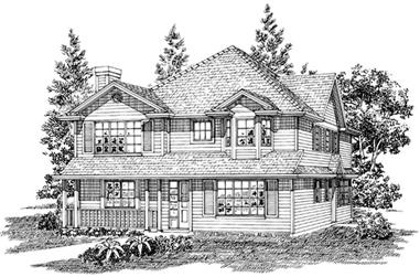 3-Bedroom, 2891 Sq Ft Country Home Plan - 167-1371 - Main Exterior