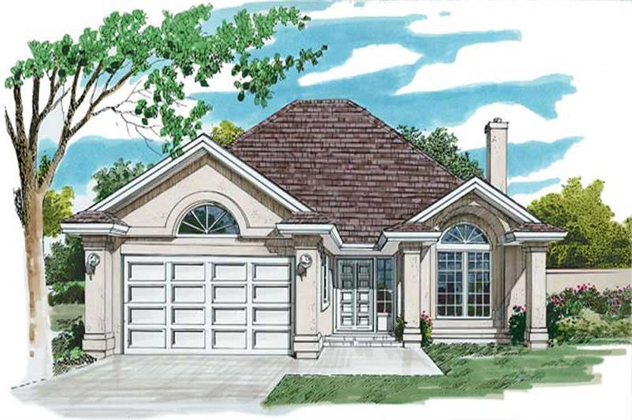 3-Bedroom, 1477 Sq Ft Contemporary House Plan - 167-1373 - Front Exterior