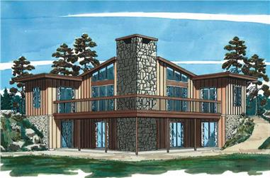 3-Bedroom, 1180 Sq Ft Contemporary House Plan - 167-1378 - Front Exterior