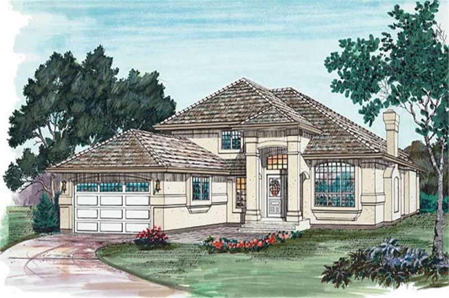 3-Bedroom, 2071 Sq Ft Contemporary House Plan - 167-1379 - Front Exterior