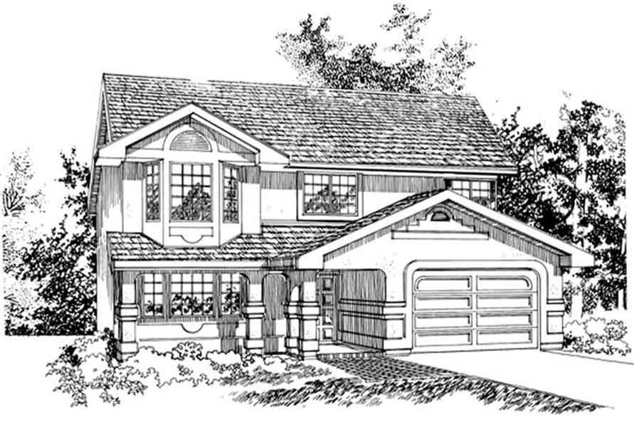 3-Bedroom, 1202 Sq Ft Contemporary House Plan - 167-1386 - Front Exterior