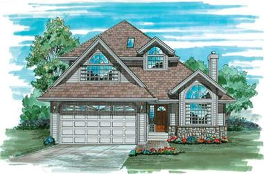 3-Bedroom, 2109 Sq Ft Contemporary House Plan - 167-1387 - Front Exterior