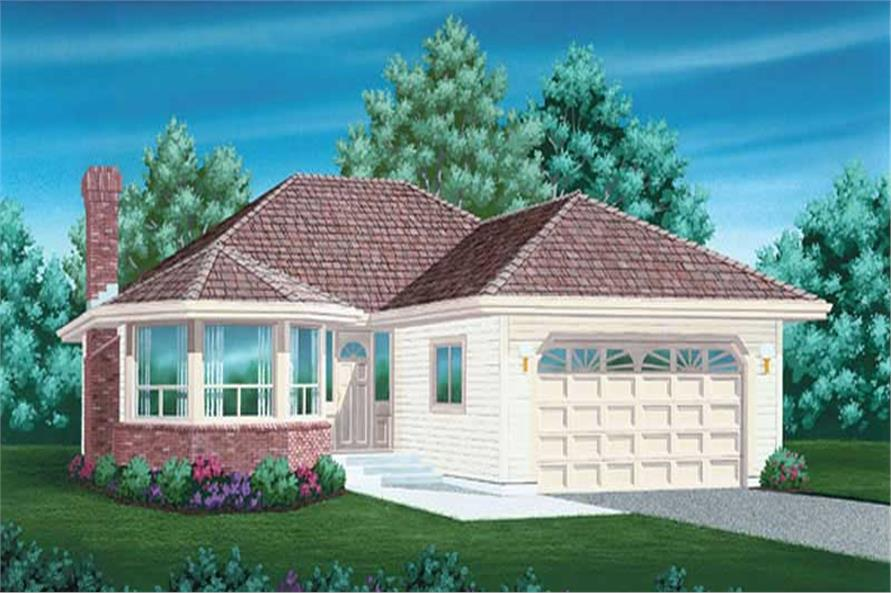 3-Bedroom, 1616 Sq Ft Ranch House Plan - 167-1390 - Front Exterior
