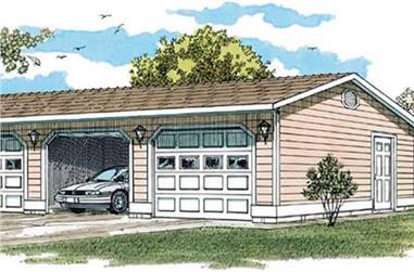 0-Bedroom, 50 Sq Ft Garage Home Plan - 167-1393 - Main Exterior