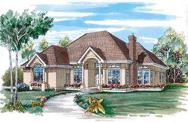 3-Bedroom, 2657 Sq Ft Contemporary Home Plan - 167-1394 - Main Exterior