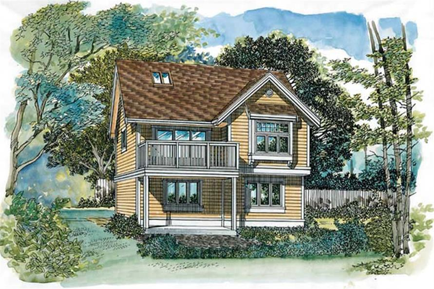 1-Bedroom, 773 Sq Ft Garage House Plan - 167-1395 - Front Exterior