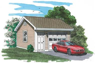 0-Bedroom, 320 Sq Ft Garage Home Plan - 167-1402 - Main Exterior