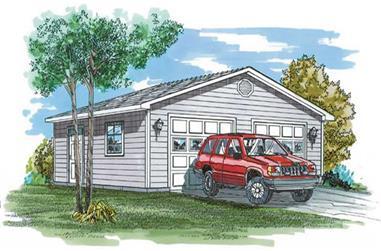 0-Bedroom, 576 Sq Ft Garage Home Plan - 167-1404 - Main Exterior