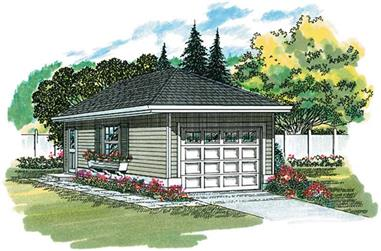 0-Bedroom, 50 Sq Ft Garage Home Plan - 167-1405 - Main Exterior