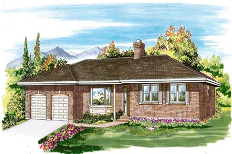 3-Bedroom, 1710 Sq Ft Ranch Home Plan - 167-1406 - Main Exterior