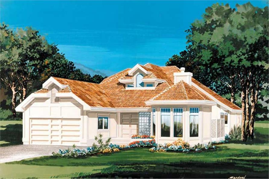 2-Bedroom, 2239 Sq Ft Contemporary House Plan - 167-1408 - Front Exterior