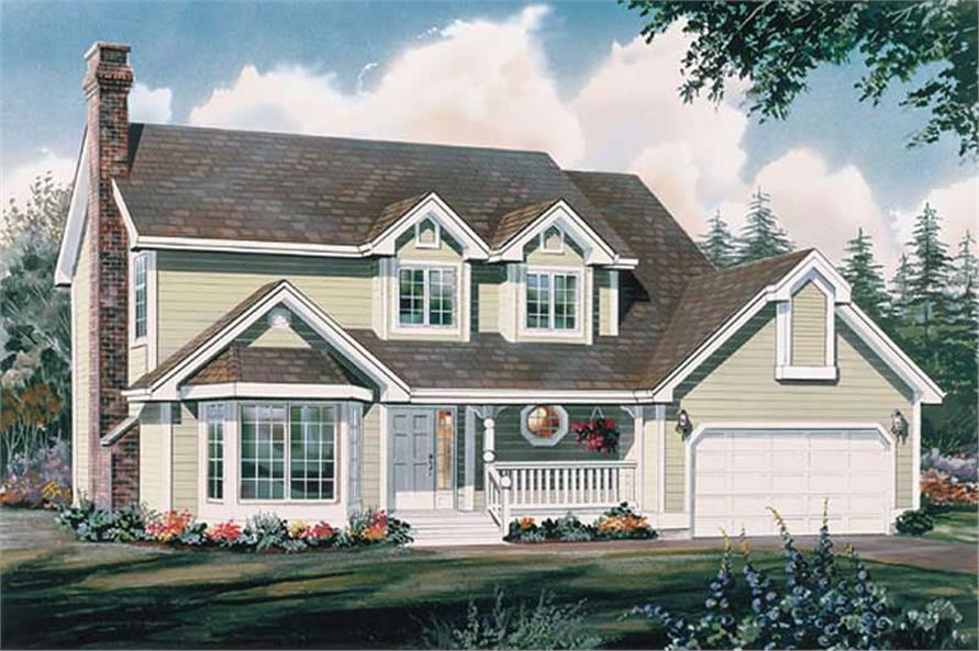 4-Bedroom, 2011 Sq Ft Country House Plan - 167-1413 - Front Exterior