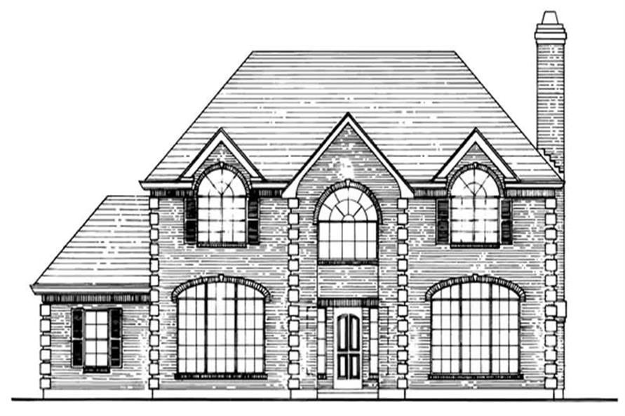 Home Plan Front Elevation of this 4-Bedroom,2808 Sq Ft Plan -167-1423