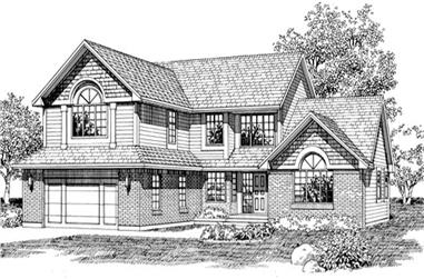 3-Bedroom, 2583 Sq Ft Traditional House Plan - 167-1424 - Front Exterior