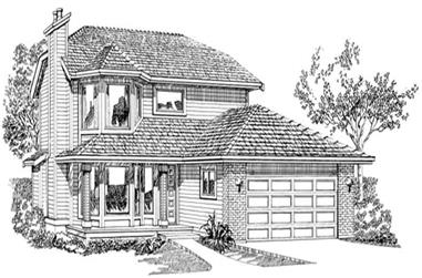 3-Bedroom, 1847 Sq Ft Contemporary House Plan - 167-1425 - Front Exterior