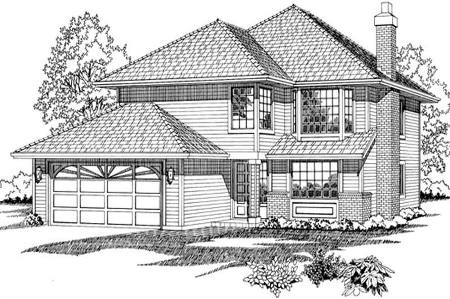 3-Bedroom, 1422 Sq Ft Contemporary House Plan - 167-1427 - Front Exterior