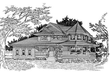 4-Bedroom, 2693 Sq Ft Victorian Home Plan - 167-1429 - Main Exterior