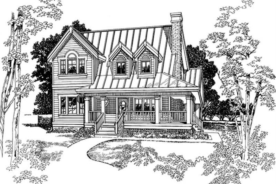 3-Bedroom, 1583 Sq Ft Country Home Plan - 167-1432 - Main Exterior