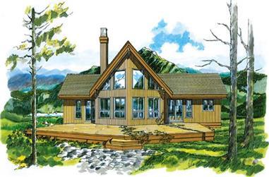 Log Houseplans front elevation.