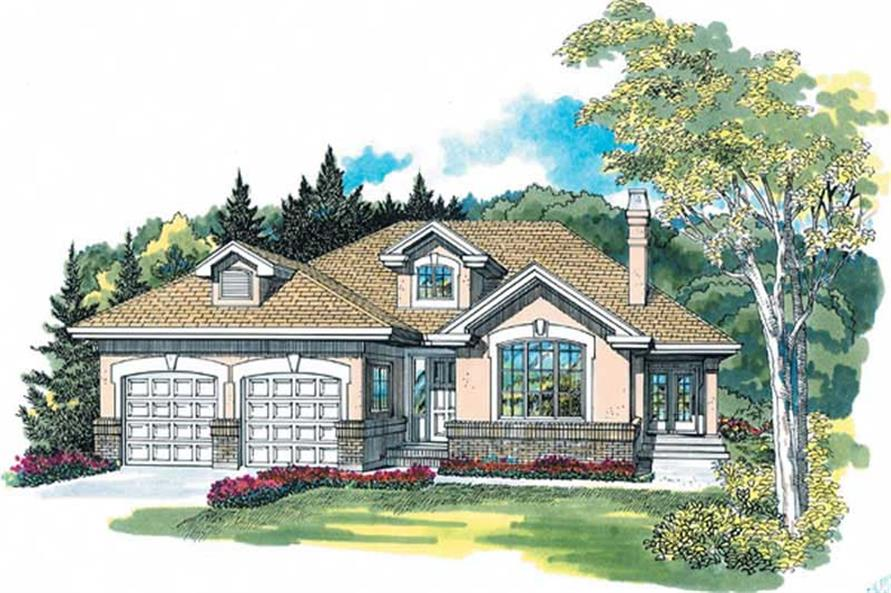 3-Bedroom, 1879 Sq Ft Contemporary Home Plan - 167-1434 - Main Exterior