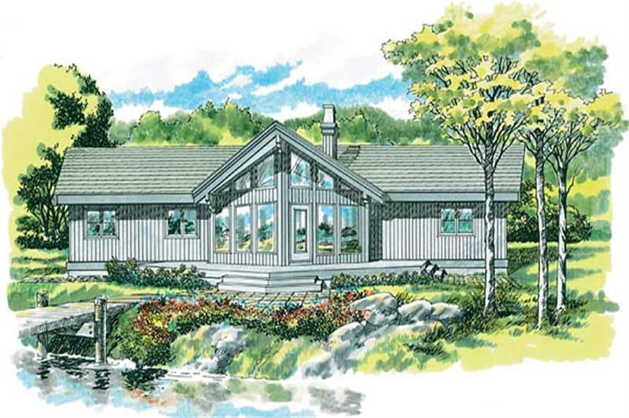 3-Bedroom, 1405 Sq Ft Small House Plans - 167-1435 - Main Exterior