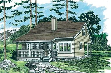 3-Bedroom, 1213 Sq Ft Country House Plan - 167-1436 - Front Exterior
