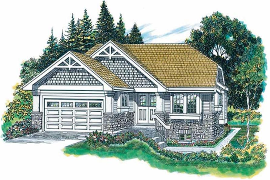 3-Bedroom, 2220 Sq Ft Ranch House Plan - 167-1438 - Front Exterior